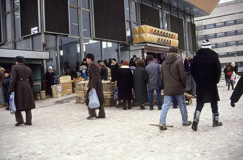 Рижский рынок, 1990 год